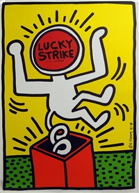 lucky strike poster ii by keith haring