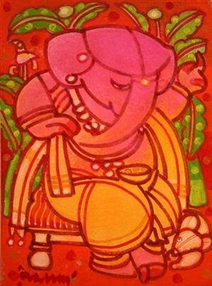 ganesh seated by ramananda bandopadhyay