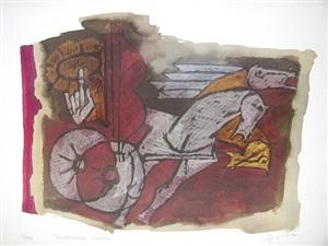 sudarshan chakra by maqbool fida husain