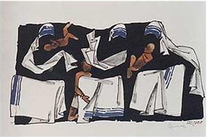 three and three (mother teresa series) by maqbool fida husain