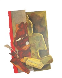 vyasa and ganesha by maqbool fida husain