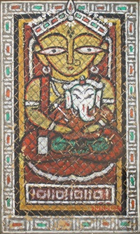 untitled (ganesh janani) by jamini roy