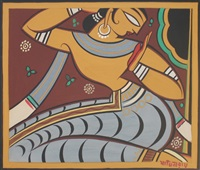 untitled (gopi) by jamini roy