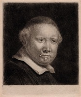 lieven van coppenol, the larger plate by rembrandt van rijn