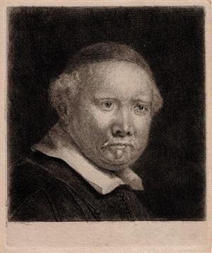 lieven van coppenol, the larger plate by rembrandt van rijn