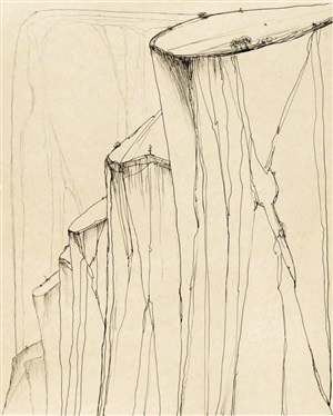 canyon mountains by wayne thiebaud