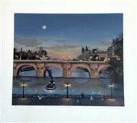 le pont-neuf le soir by michel delacroix