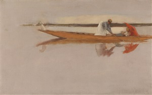 a sketch on the river by james jebusa shannon