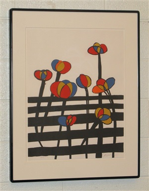 flowers at the fence by alexander calder
