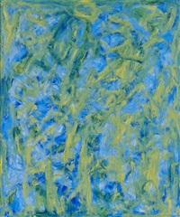 blue - light abstraction by beauford delaney