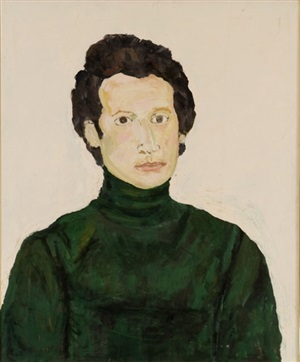 portrait of a man on white by beauford delaney