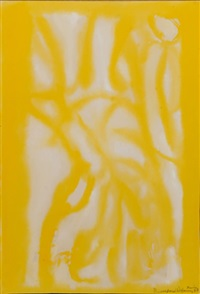 abstract in yellows by beauford delaney