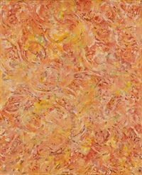 abstract movement in red and yellow by beauford delaney