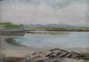 scottish coastal view by herbert james gunn