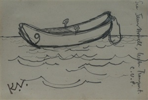 boat study by keith vaughan
