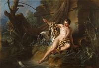 le pêcheur et le petit poisson (from les fables by la fontaine) by jean-baptiste oudry