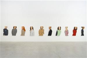 installation view women in jackets by alex katz