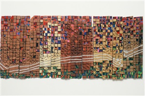 communcation lines in 1004 flats by el anatsui