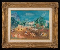 cavaliers a paris by jean dufy