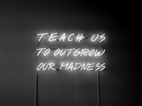 teach us to outgrow our madness by alfredo jaar
