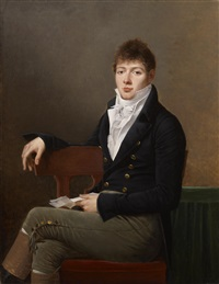 portrait of michael elias meyer by robert jacques francois faust lefevre