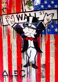 wall street crucifix by alec monopoly