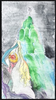 voyeur, crocale's embrace 7 by chris ofili