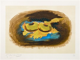 les pommes et feuilles (apples and leaves) by georges braque
