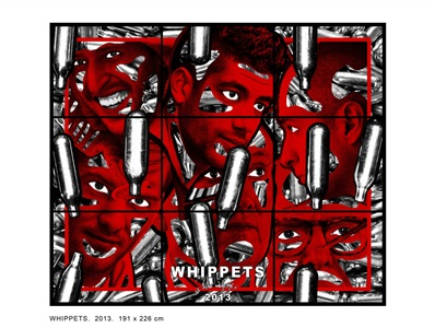 whippets by gilbert george