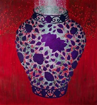 red forest vase by andrew james ward