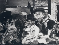 train whistle blues no. 1 by romare bearden