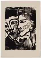 doppelbildnis (double portrait) by emil nolde
