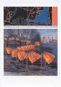 the gates: project for central park, new york city (a) by christo and jeanne-claude