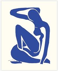 femme bleue assise i by henri matisse