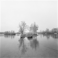 untitled (lake with eleanor on far shore) by harry callahan