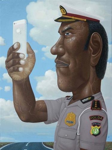 selfie cop by nyoman masriadi