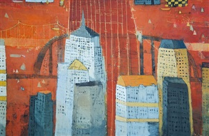 city in august by paul balmer
