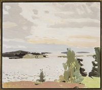 morning sky by fairfield porter