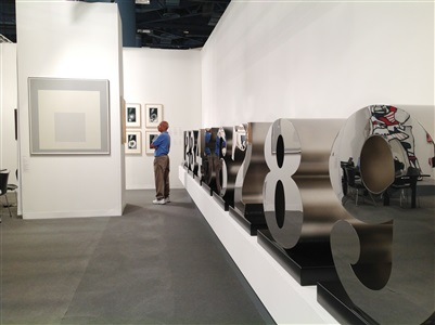 installation view waddington custot gallery art basel miami beach