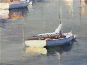 dinghy in the morning by karen blackwood