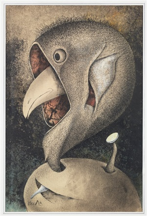 birds and beasts chronicle, an extra edition: mask bird by tatsuo ikeda