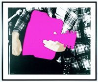 person with guitar (pink) by john baldessari