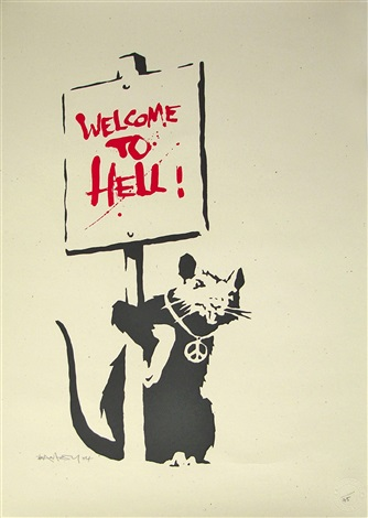 welcome to hell by banksy