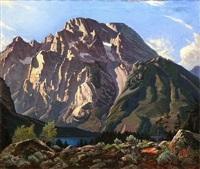 mt. moran, grand teton national park by robert clunie