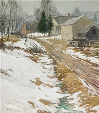 frosty morning by walter elmer schofield