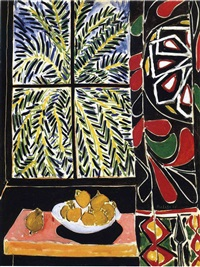 egyptian curtain by henri matisse
