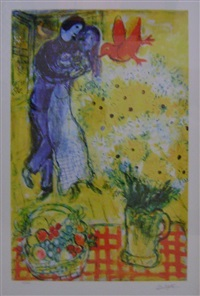lovers and daisies by marc chagall