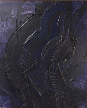 tomomori jusui (blue fudo flame) by kazuo shiraga