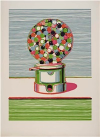 gumball machine from seven still lifes and a silver landscape portfolio by wayne thiebaud