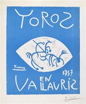 toros en vallauris (bulls in vallauris) by pablo picasso